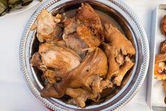 Pé da carne de porco do vapor com pimenta Fotos de Stock Royalty Free
