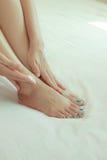 Pé da massagem Imagem de Stock