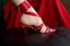 Pé da mulher na sapata 'sexy' Imagem de Stock