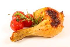 Pé de galinha grelhado isolado fotografia de stock royalty free