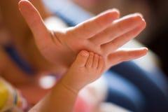 Pé do bebê Foto de Stock