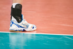 Pé do jogador de voleibol Imagem de Stock Royalty Free