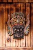 Pé do templo de Wulong da montanha de Guizhou Anshun Tiantai de máscaras pequenas de uma ópera de Nuo da casa da exploração agríc Foto de Stock