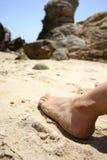 Pé na praia Imagem de Stock Royalty Free