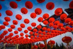 PÉKIN, CHINE - 29 JANVIER 2017 : Assistance du festival de célébration de nouvelle année dans le temple du parc de la terre, un b Images libres de droits