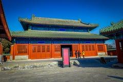 PÉKIN, CHINE - 29 JANVIER 2017 : Le temple du Ciel, complexe impérial avec de divers bâtiments religieux localisés dedans photographie stock