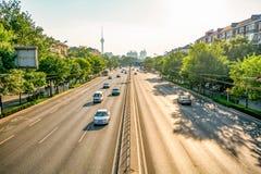 PÉKIN, CHINE le 21 mai 2016, vue sur les larges routes de Pékin o Photo stock