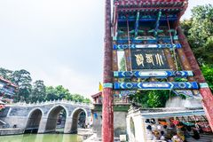 Pékin, Chine - 25 mai 2018 : Vue de palais d'été, un jardin impérial, où intègre de nombreux halls traditionnels et photo libre de droits