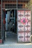 PÉKIN, CHINE - 10 MARS 2016 : Le vieux hutong de Pékin avec le son Photo stock