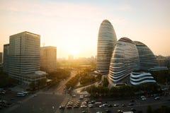 Pékin, Chine - 23 octobre 2017 : Paysage urbain de Pékin et célèbre photo stock