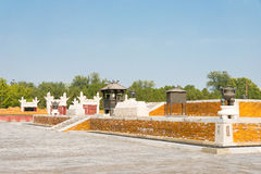 PÉKIN, CHINE - 18 octobre 2015 : Temple de la terre (Ditan) un célèbre Images libres de droits
