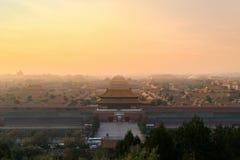 Pékin Cité interdite antique dans le matin chez Pékin, Chine image libre de droits