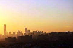 Pékin dans le lever de soleil photo libre de droits