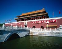 Pékin tienanmen dans la porcelaine Photo stock