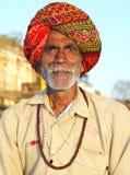 Pélerin dans Omkareshwar Images stock