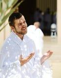 Pélerins musulmans chez Miqat photographie stock