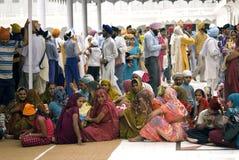 Pélerins sikhs, Amritsar, Pendjab, Inde Photos stock
