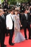 Pénélope Cruz et Johnny Depp Images libres de droits