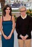 Pénélope Cruz, Woody Allen Photos stock