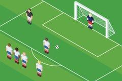 Pénalité du football/football Boule sur la tache de pénalité Images libres de droits