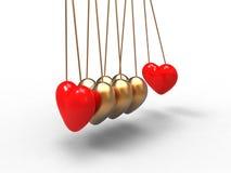 Péndulo del amor Imágenes de archivo libres de regalías