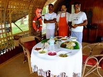 Péniche au Kerala, Inde Photos libres de droits