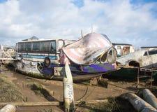 Péniche d'autobus Photographie stock libre de droits