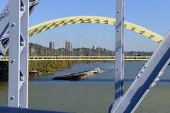 Péniche de la rivière Ohio Photo stock