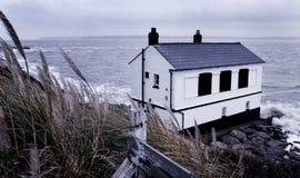 Péniche de plage de Lepe, Angleterre Photo libre de droits
