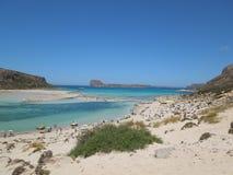 Péninsule de Balos sur l'île de Crète, Grèce Photos libres de droits