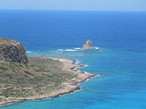 Péninsule de Balos sur l'île de Crète, Grèce Image libre de droits