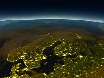 Péninsule scandinave de l'espace le soir Images stock