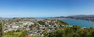 Péninsule Wellington New Zealand Homes Panorama de Miramar photographie stock
