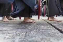 Pénitents avec les pieds nus Images stock