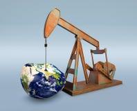 Pénurie de ressources pétrolières - éléments de cette image meublés par Image stock