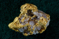 Pépite d'or/quartz du Nevada Etats-Unis Photos stock