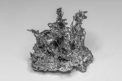 Pépite de Metall solidifié en noir et blanc photos stock