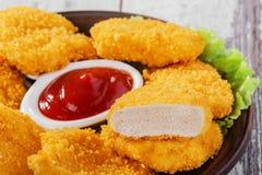Pépites de poulet photographie stock