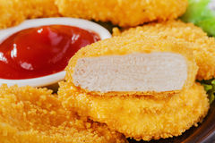 Pépites de poulet photographie stock libre de droits