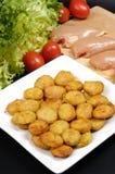 Pépites de poulet d'aliments de préparation rapide photographie stock libre de droits