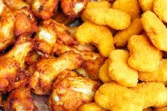 Pépites de poulet frit croustillantes photographie stock