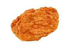 Pépites de poulet frit d'isolement sur le blanc images libres de droits