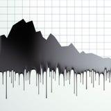 Pérdida del petróleo de gráfico del precio Foto de archivo