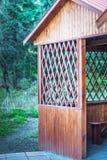 Pérgola de madera Imagen de archivo libre de regalías