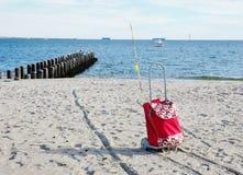 Période de pêche de New York d'île de lapin Image stock