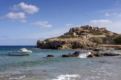 Période dorique de Minoan de ville d'Itanos un jour ensoleillé Sitia, île Crète, Grèce image libre de droits