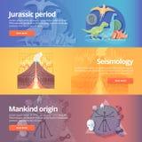 Période jurassique Âge de dinosaure La science de sismographie illustration de vecteur