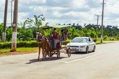 Périphéries cubaines Chariot de cheval photos stock