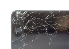 Périphérique mobile cassé d'Apple. Photographie stock
