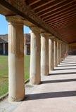 Péristyle dans des bains de Stabian (Terme Stabiane), Pompeii Photo libre de droits